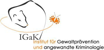 Institut für Gewaltprävention und angewandte Kriminologie. Logo: Maren Winter. Schriftzug: Marlene Eltschig